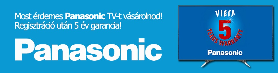 5 év garancia Panasonic Tv-re