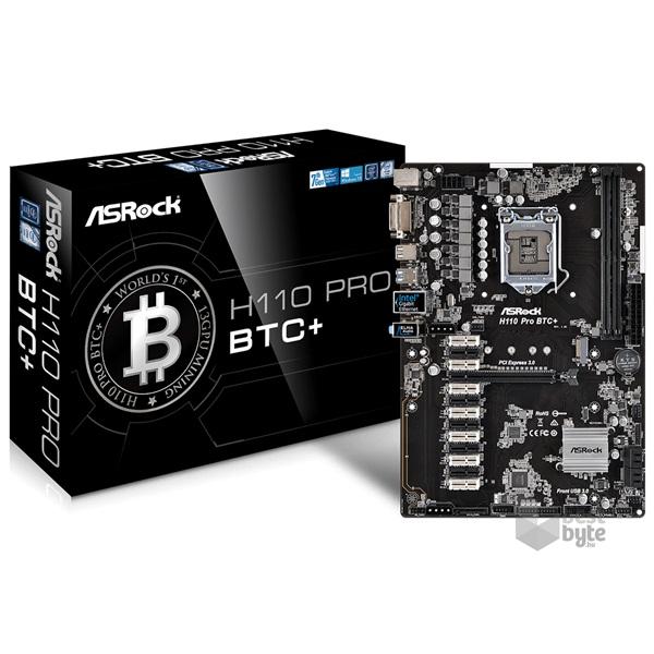 ASRock H110 PRO BTC+ Intel H110 LGA1151 ATX alaplap
