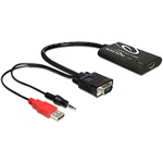 Delock 62407 HDMI-VGA adapter audióval