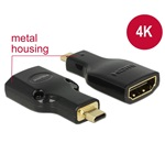 Delock 65664 High Speed HDMI Ethernettel micro-D apa > HDMI-A anya 4K adapter