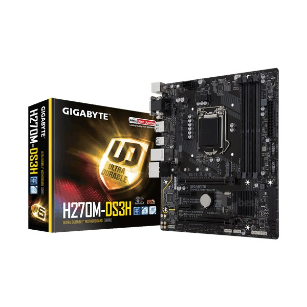 Gigabyte H270M-DS3H Intel H270 LGA1151 mATX alaplap