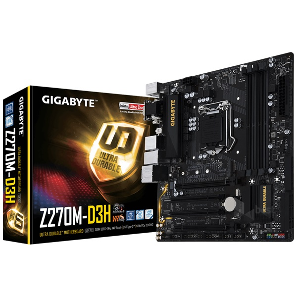 Gigabyte Z270M-D3H Intel Z270 LGA1151 mATX alaplap