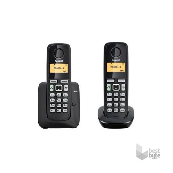 Gigaset A220 Duo fekete dect telefon