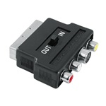 Hama 42357 AV SCART-3RCA-SVHS be/ki adapter