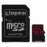 Kingston 128GB SD micro Canvas React (SDXC Class 10 UHS-I U3) (SDCR/128GB) memória kártya adapterrel