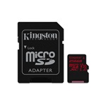 Kingston 256GB SD micro Canvas React (SDXC Class 10 UHS-I U3) (SDCR/256GB) memória kártya adapterrel