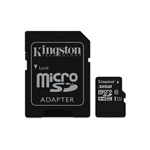 Kingston 32GB SD micro Canvas Select 80R (SDHC Class 10  UHS-I) (SDCS/32GB) memória kártya adapterrel