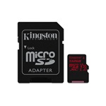 Kingston 512GB SD micro Canvas React (SDXC Class 10 UHS-I U3) (SDCR/512GB) memória kártya adapterrel