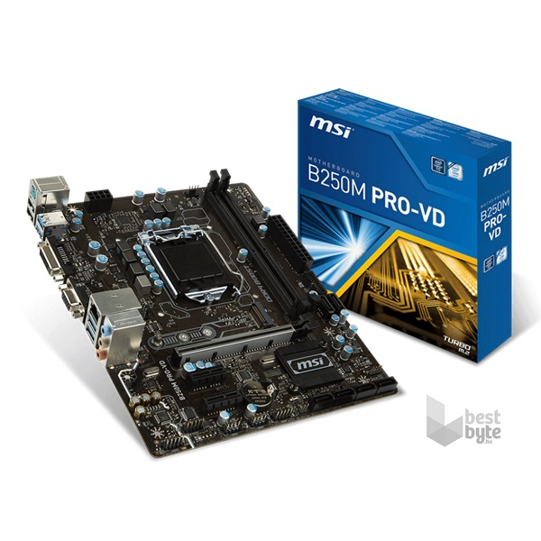 MSI B250M PRO-VD Intel B250 LGA1151 mATX alaplap