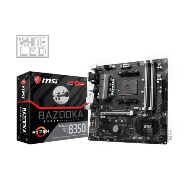 MSI B350M BAZOOKA AMD B350 SocketAM4 mATX alaplap