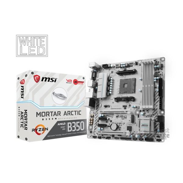 MSI B350M MORTAR ARCTIC AMD B350 SocketAM4 mATX alaplap