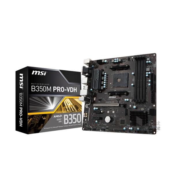 MSI B350M PRO-VDH AMD B350 SocketAM4 mATX alaplap