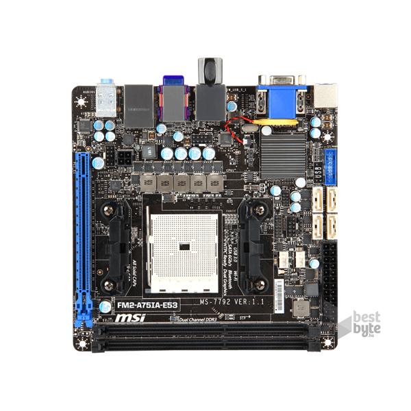 MSI FM2-A75IA-E53 AMD A75 SocketFM2 mini-ITX alaplap
