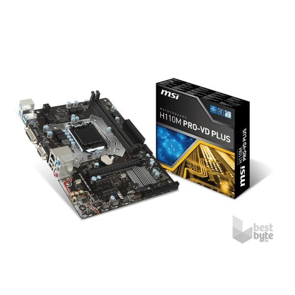 MSI H110M PRO-VD PLUS Intel H110 LGA1151 mATX alaplap