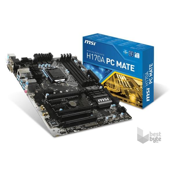 MSI H170A PC MATE Intel H170 LGA1151 ATX alaplap