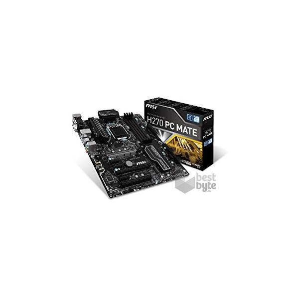 MSI H270 PC MATE Intel H270 LGA1151 ATX alaplap