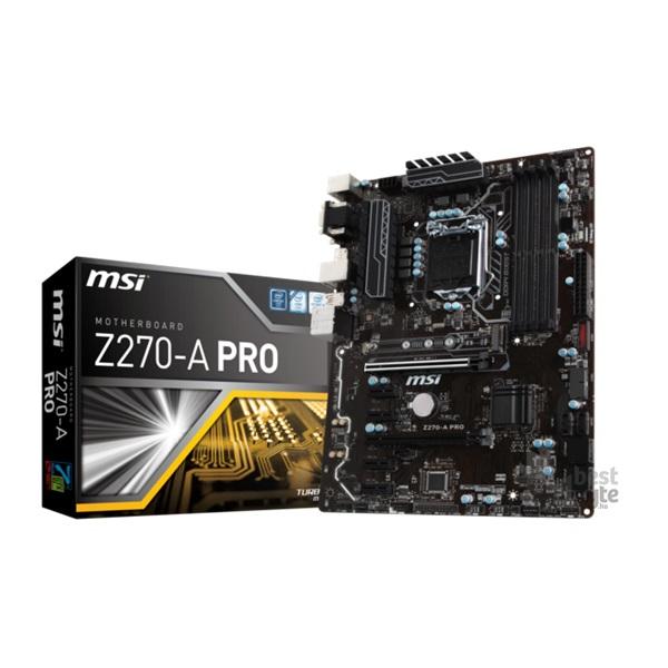 MSI Z270-A PRO Intel Z270 LGA1151 ATX alaplap