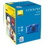 7e97ab67d420 Nikon Coolpix S33 Kék digitális fényképezőgép hátizsák Kit - BestByte.hu
