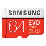 Samsung 64GB SD micro EVO Plus (SDXC Class10) (MB-MC64HA/EU) memória kártya adapterrel