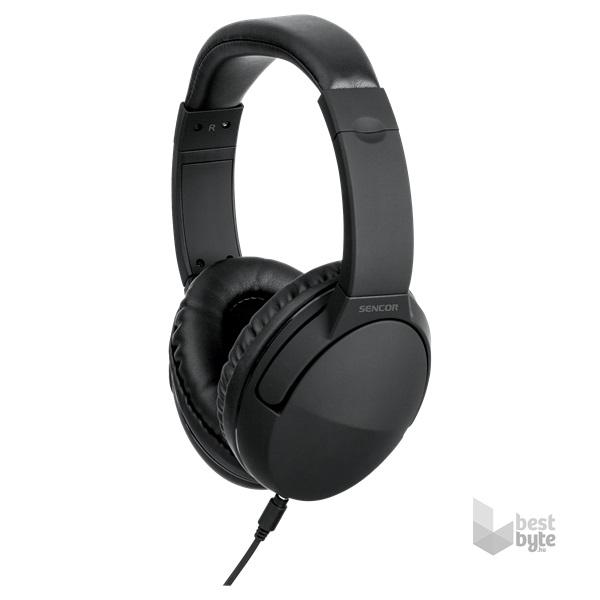 SENCOR SEP 636BK fekete fejhallgató