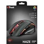 Trust GXT 168 Haze Illuminated fekete gamer egér