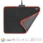 Trust GXT 762 Glide-Flex Illuminated flexible fekete gamer egérpad