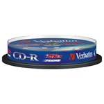 VERBATIM CDV7052B10DL  CD-R  DataLife cake box CD lemez 10db/csomag