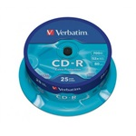 VERBATIM CDV7052B25DL  CD-R DataLife cake box CD lemez 25db/csomag