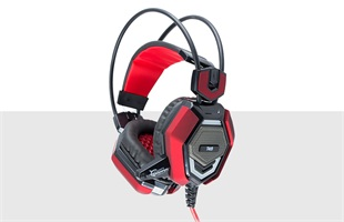 White Shark GH-1644 TIGER fekete/piros Gaming headset