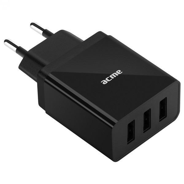 ACME CH206 3.4A univerzális 3x USB hálózati töltő a PlayIT Store-nál most bruttó 15.999 Ft.