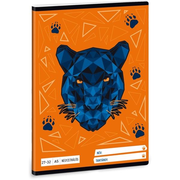 Ars Una Black Panther A5 27-32 kockás füzet - 1