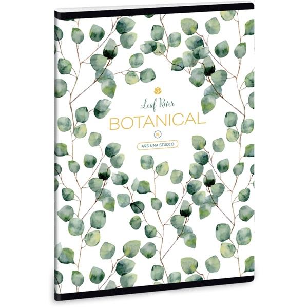 Ars Una Botanic Leaf A5 extra kapcsos vonalas füzet - 1