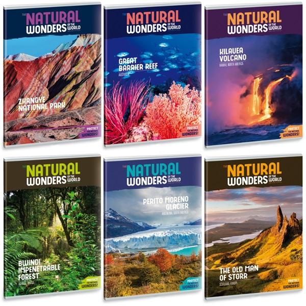 Ars Una Natural Wonders A4 extra kapcsos vonalas füzet - 1