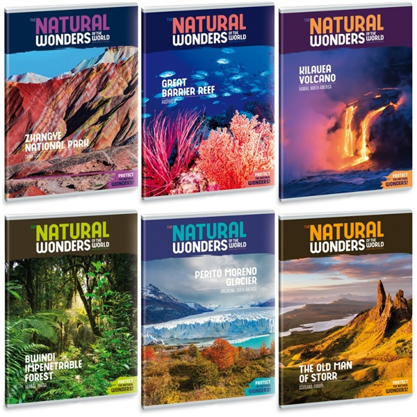 Ars Una Natural Wonders A5 extra kapcsos vonalas füzet - 1