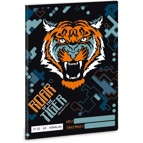 Ars Una Roar of the Tiger A5 21-32 vonalas füzet - 1