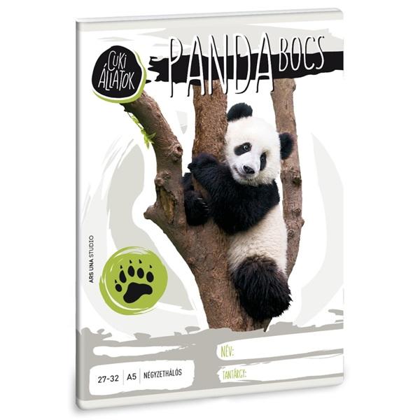 Ars Una cuki panda A5 27-32 kockás füzet - 1
