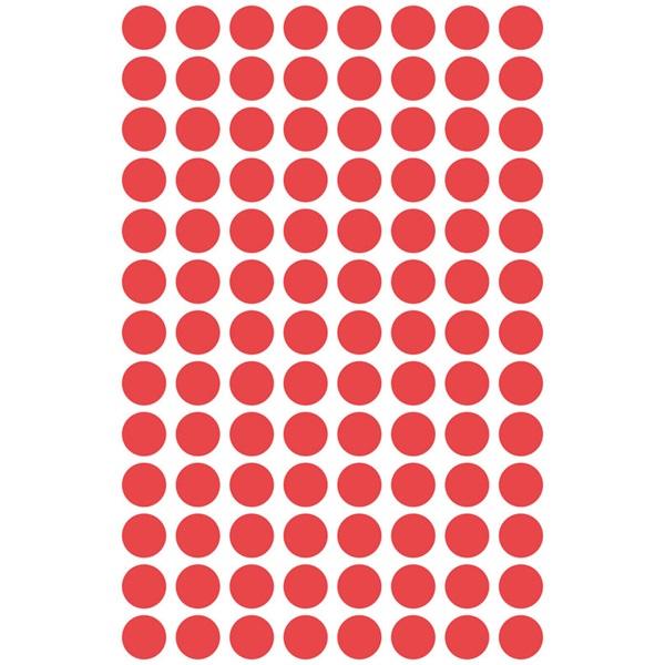 Avery 3010 8mm 416db-os piros jelölőpont - 2