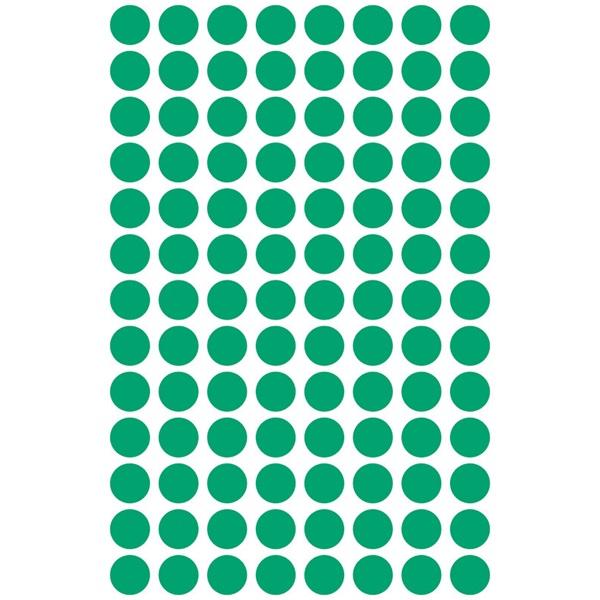Avery 3012 8mm 416db-os zöld jelölőpont - 2