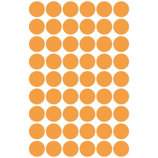 Avery 3148 12mm 270db-os világosnarancs jelölőpont - 2