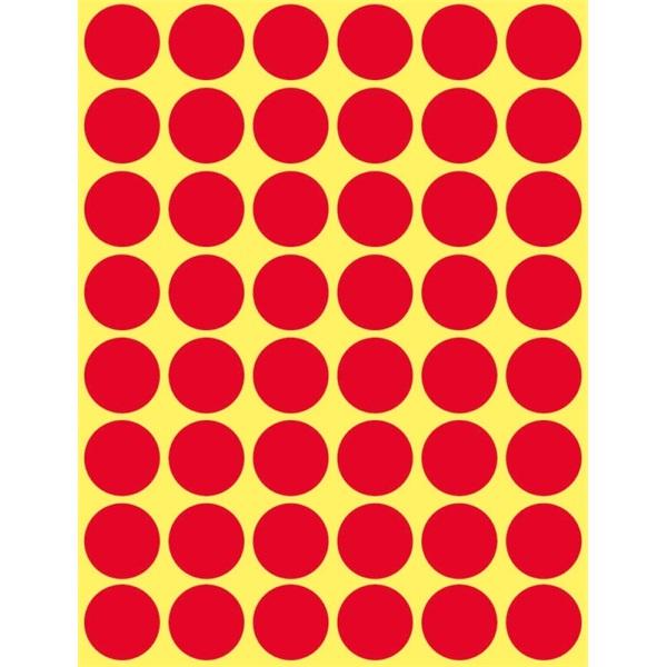 Avery 3374 18mm 1056db-os piros jelölőpont - 2