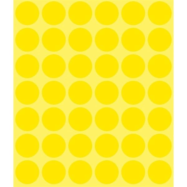 Avery 3377 18mm 1056db-os sárga jelölőpont - 2