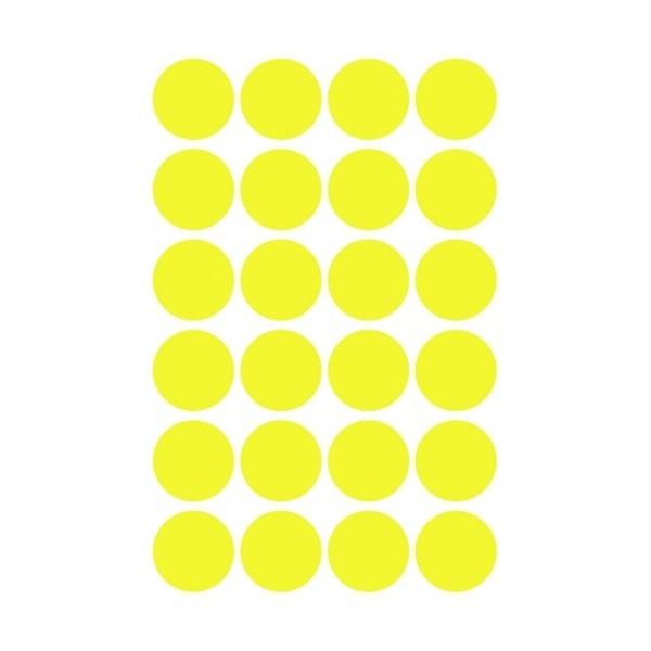 Avery 3598 18mm visszaszedhető 96db-os napsárga jelölőpont - 4