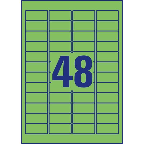 Avery L6040-20 45,7x21,2mm visszaszedhető 960db-os zöld etikett - 4