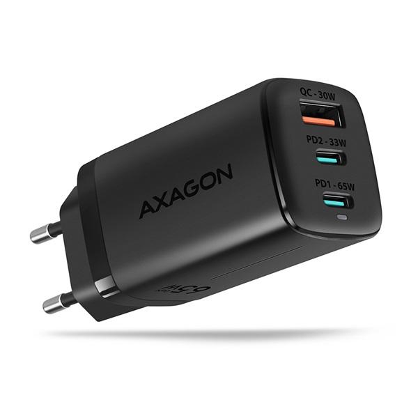 Axagon ACU-DPQ65 GaN USB-A + 2xUSB-C PD3.0/QC4+/PPS/Apple 65W hálózati töltő a PlayIT Store-nál most bruttó 15.999 Ft.