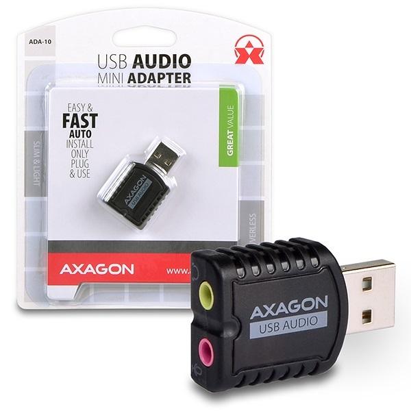 Axagon ADA-10 USB stereo audio adapter a PlayIT Store-nál most bruttó 15.999 Ft.