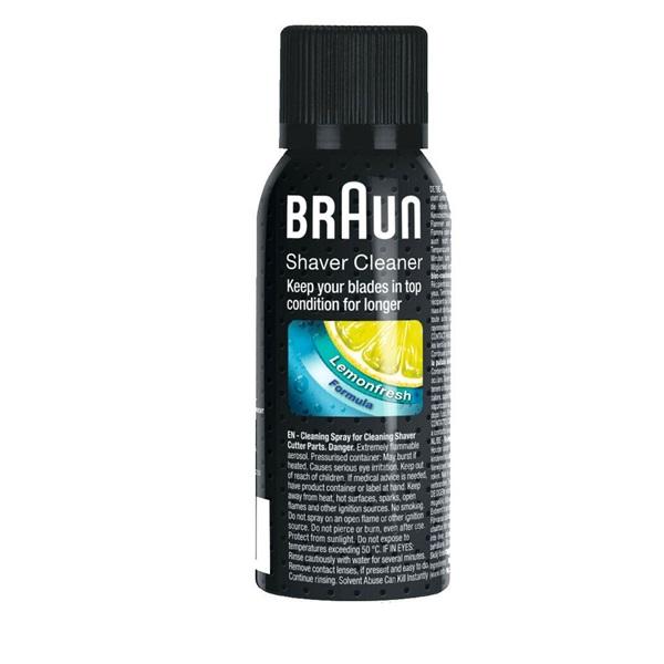 Tulajdonságok:<br/><br/>Tisztítóspray Braun Series borotvákhoz.<br/> - 1