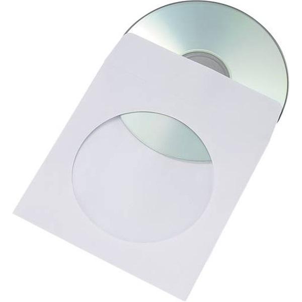 CD/DVD tartó papírtok öntapadó fehér db
