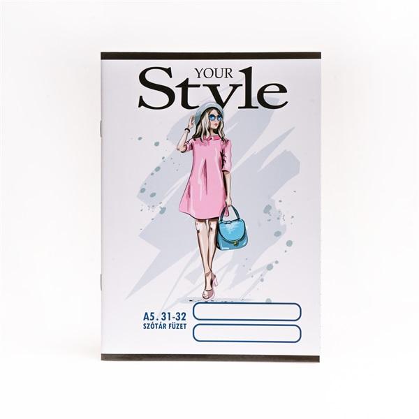 Design Style A5 szótár 31-32 iskolai tűzött füzet - 1