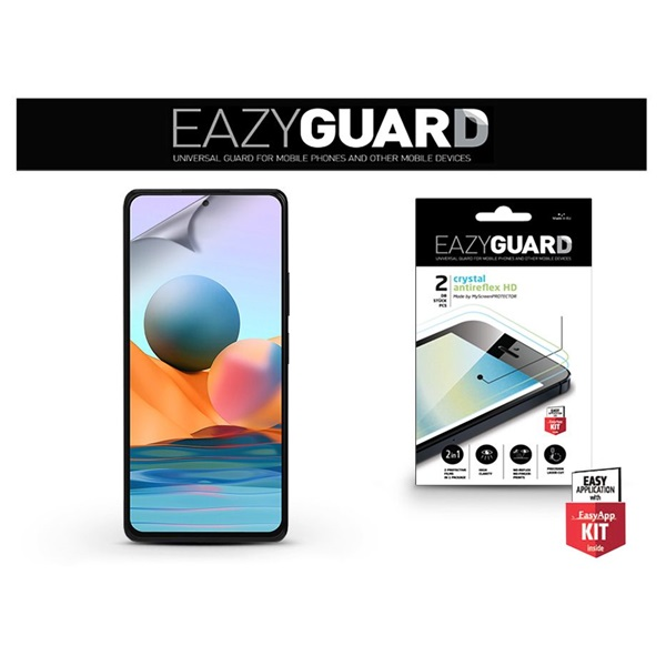 EazyGuard LA-1846 Xiaomi Redmi Note 10/10 Pro Max (Crystal/Antireflex HD) 2db-os kijelzővédő fólia - 1