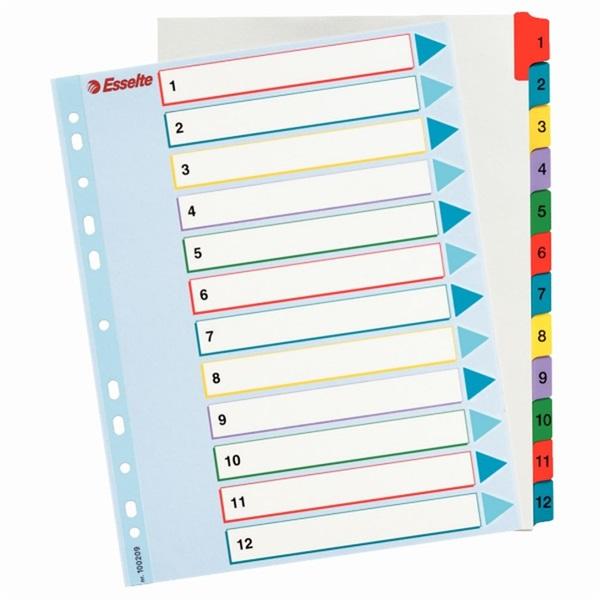 Esselte újraírható regiszter A4 1-12